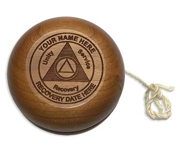 Personalized Wooden AA Recovery YoYo